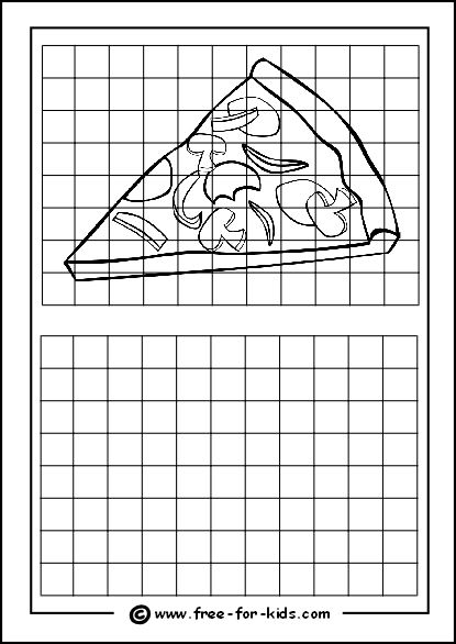 Grid Drawing Worksheets With Pictures For Drawing Practice