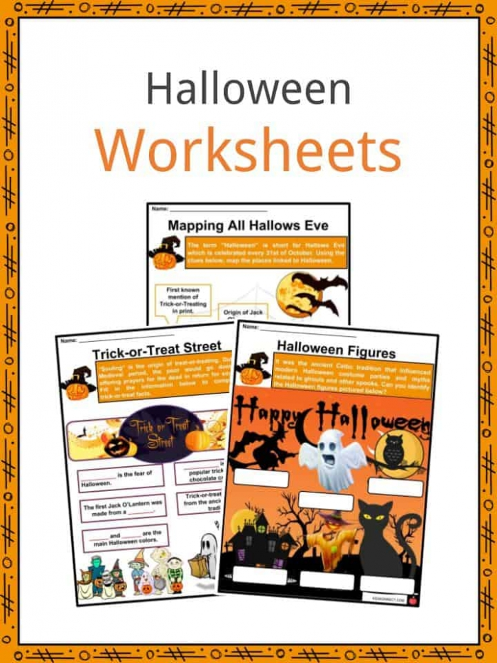 Halloween Facts  Information   Worksheets