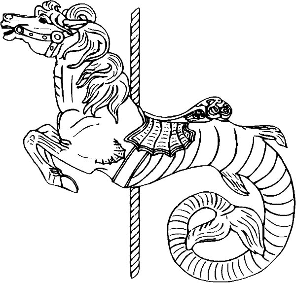 Hippocampus Carousel Horse Coloring Best Place To Color Grade Math