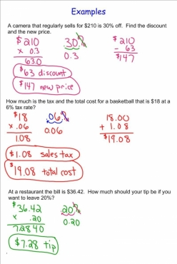 Money Math: Solve Sales Tax Word Problems