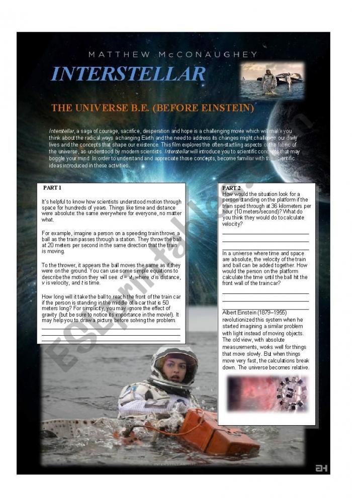 Interstellar After Watching Activity