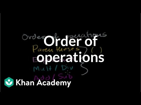 Intro To Order Of Operations Video