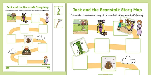 Jack And The Beanstalk Cut And Stick Story Map Activity