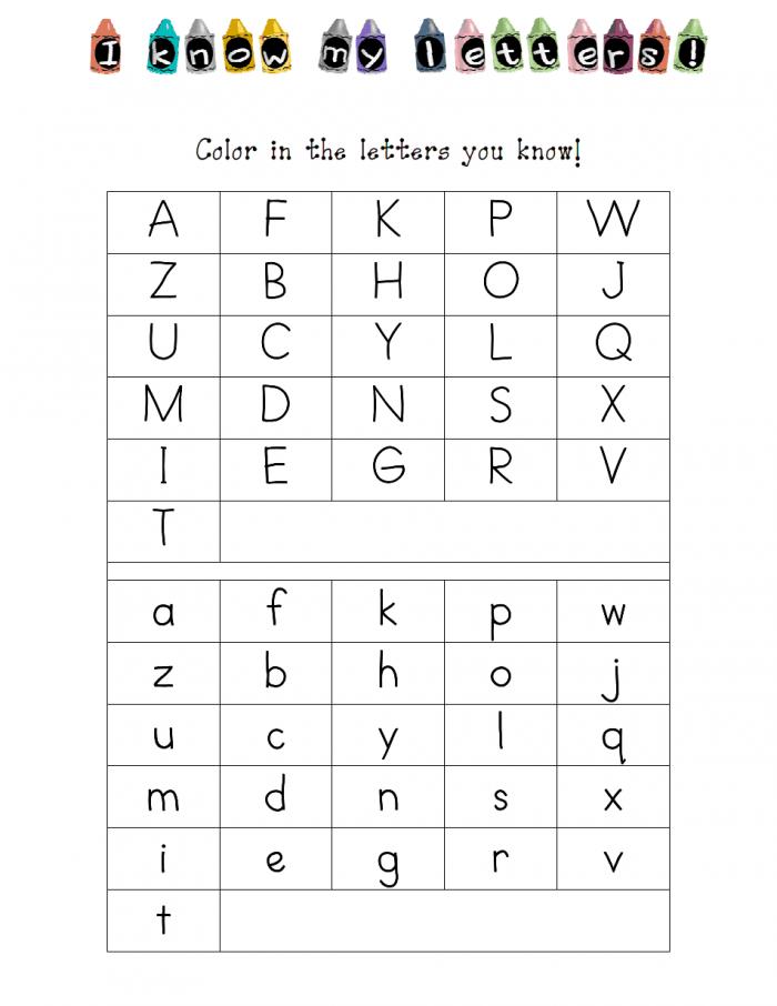 Kindergarten Letter Id Assessmentpdf