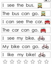 kindergarten sight word sentences   games guided reading levels a 9