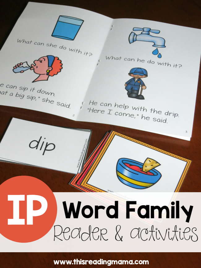 Learn To Read Ip Word Family Reader   Activities