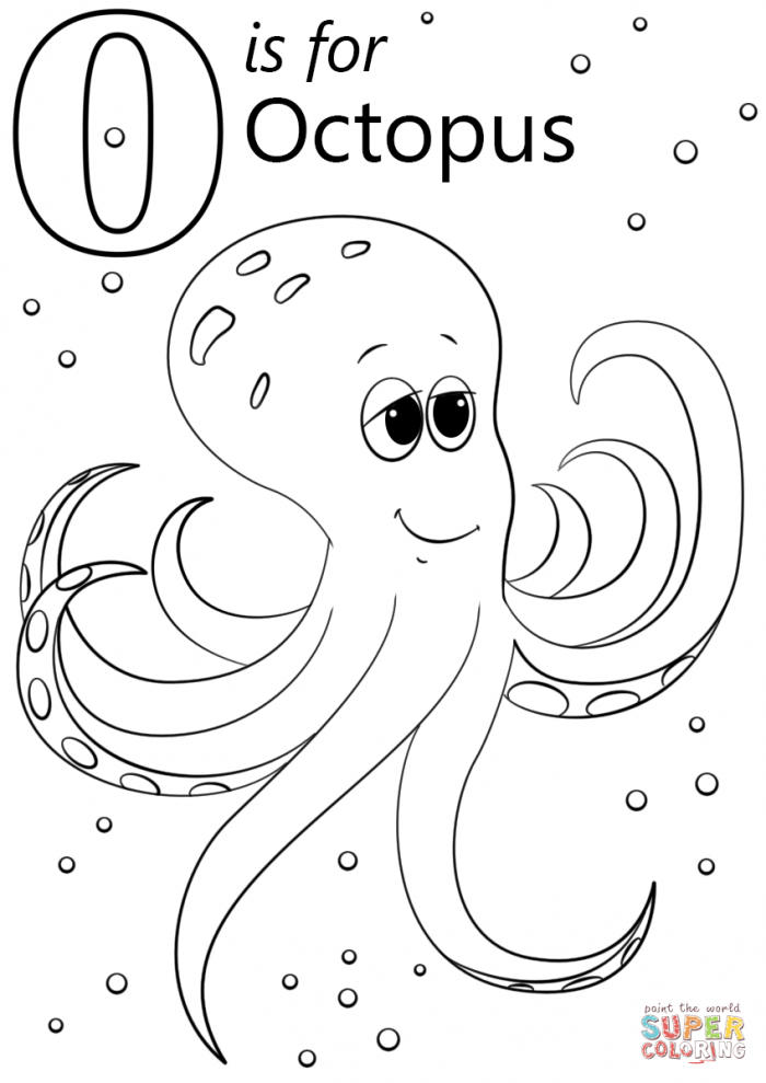 Letter O Is For Octopus Coloring Page Thanksgiving Pages Sheets