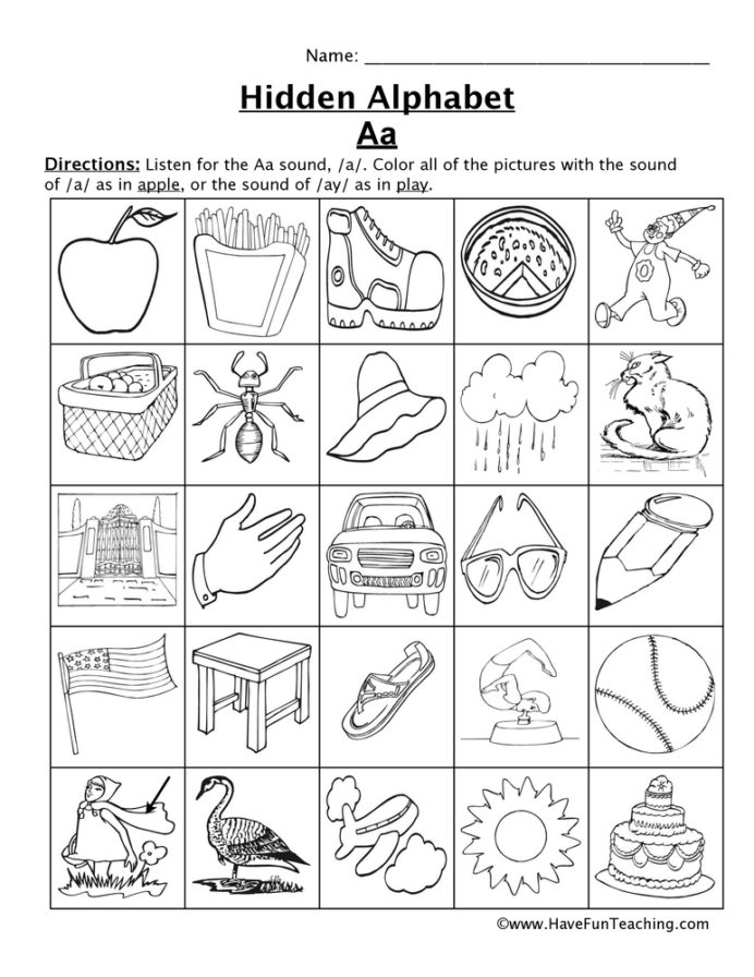 Letter Sounds Worksheets Have Fun Teaching Alphabet Sound