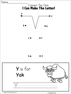 Dot-To-Dot Alphabet: Y