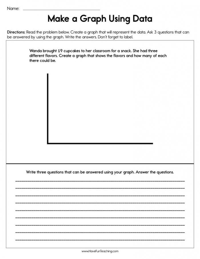 Making A Graph Using Data Worksheet  Have Fun Teaching