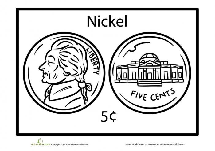 Nickel Coloring Page