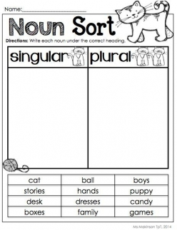 Plural Or Singular Noun Sort