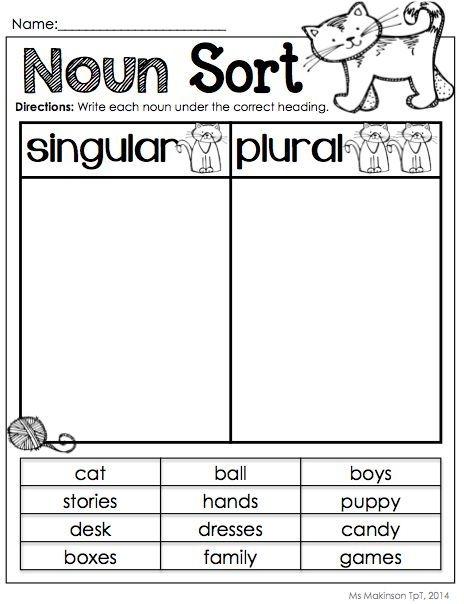 Plural Or Singular Noun Sort Worksheets 99Worksheets