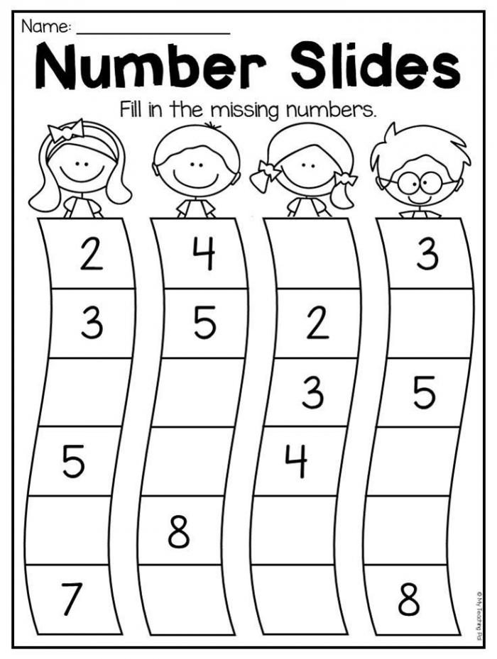 Number Order Worksheet For Kindergarten This Packet Is Jammed