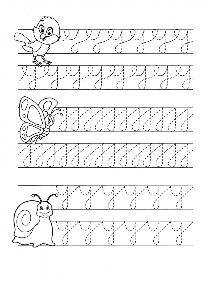 Pencil Control Letter Worksheets Printable And Lettering Practice