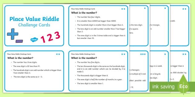 Place Value Maths Riddles For Kids Teacher Made
