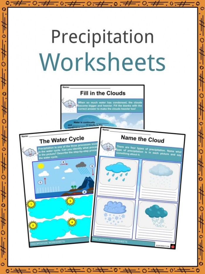 Precipitation Facts  Worksheets   Causes For Kids