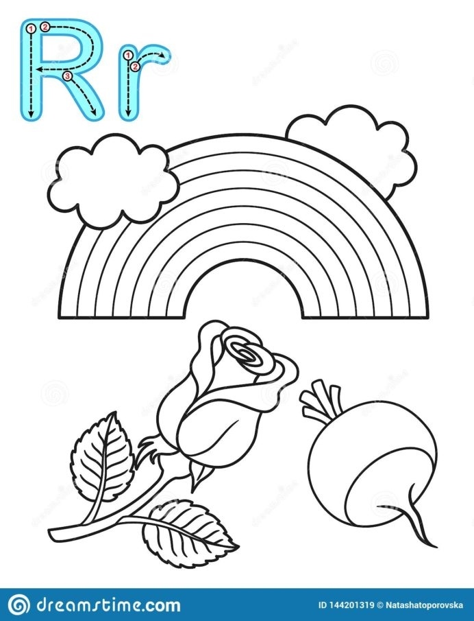 Printable Coloring For Kindergarten And Preschool Card Letter