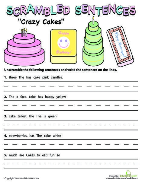 Second Grade Reading   Writing Worksheets Scrambled Sentences