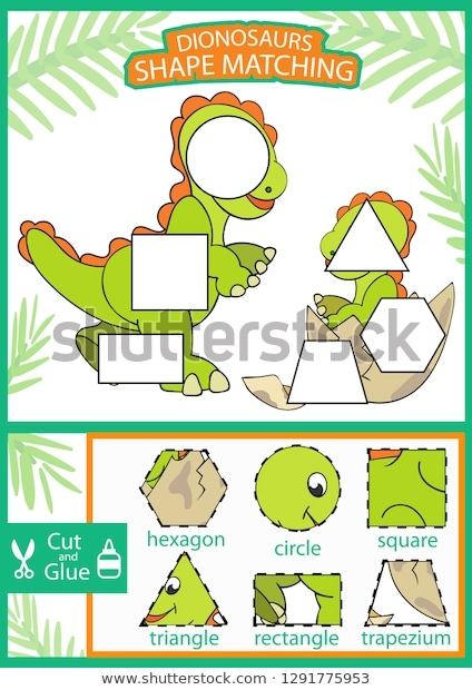 Shape Matching Game Find Correct Shapes Stock Vector Royalty Free