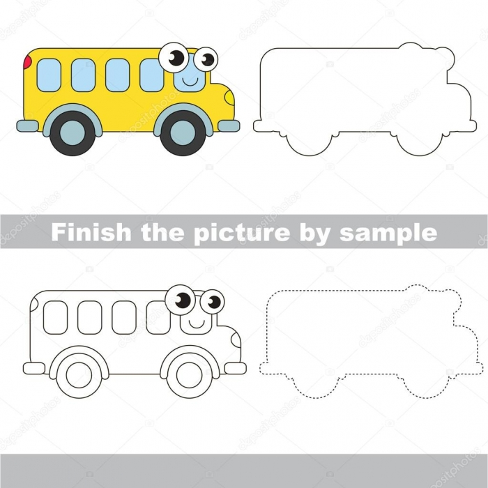 Simple Drawing Of A School Bus