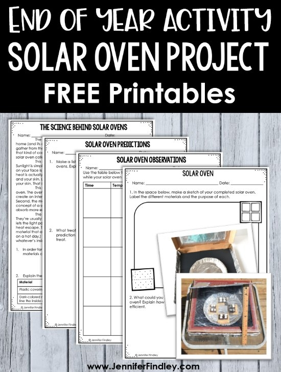 Solar Oven Project With Free Printables