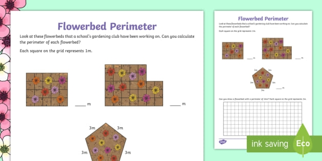 Spring Perimeter Worksheet Teacher Made