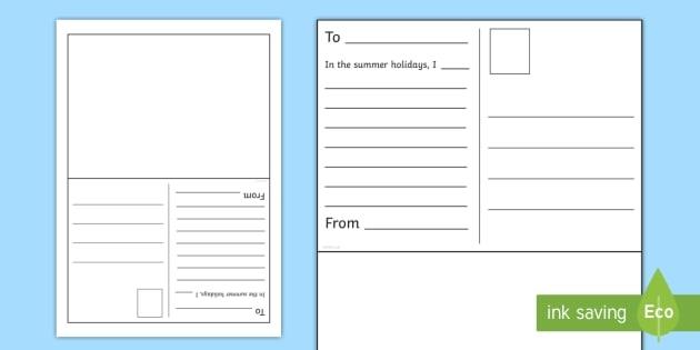 Summer Postcard Writing Worksheet  Worksheet Teacher Made