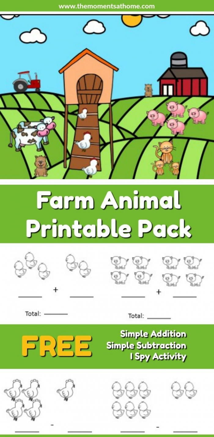 These Farm Animal Printable Worksheets Are Perfect For Early Lea