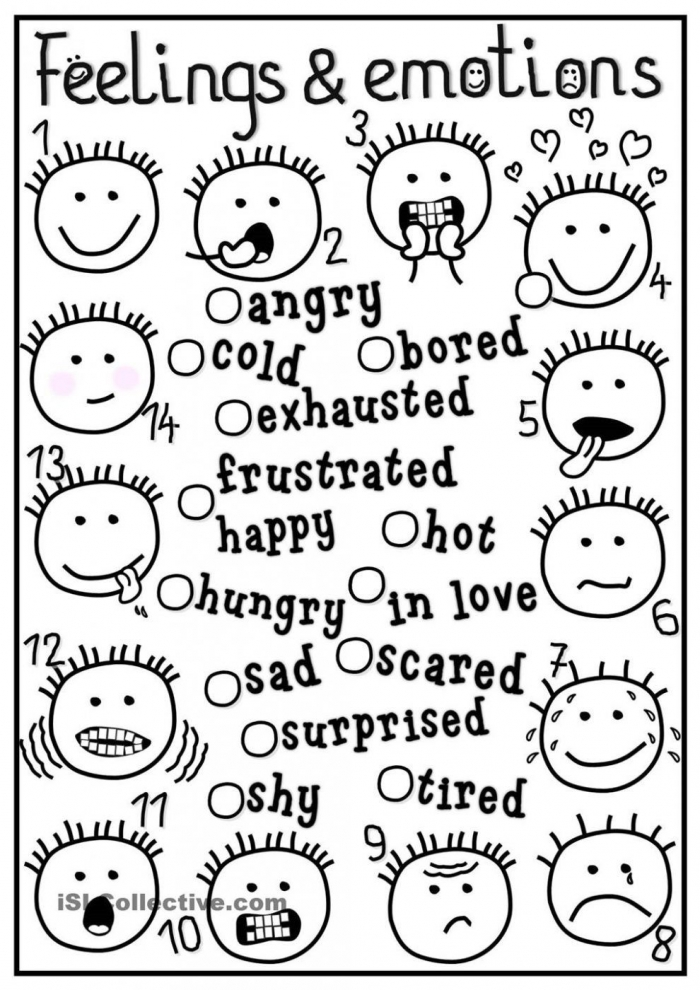 Top  Emotion Coloring Pages