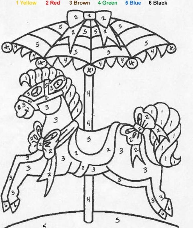 Toy Color By Number Coloring Pages
