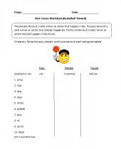 verbs worksheets 8