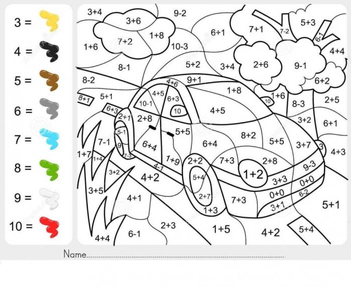 Worksheet  Addition Math Coloringes For Nd Graders Second Grade