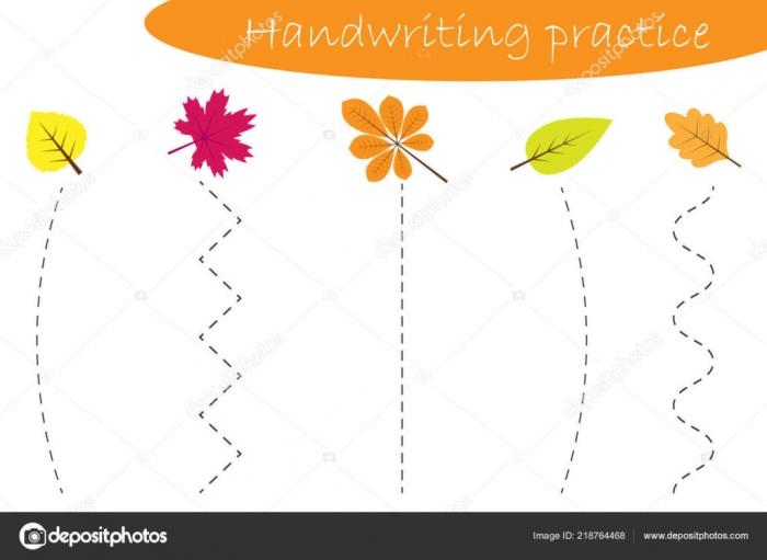 Worksheet  Worksheet Handwriting Practice Sheet Autumn Fall