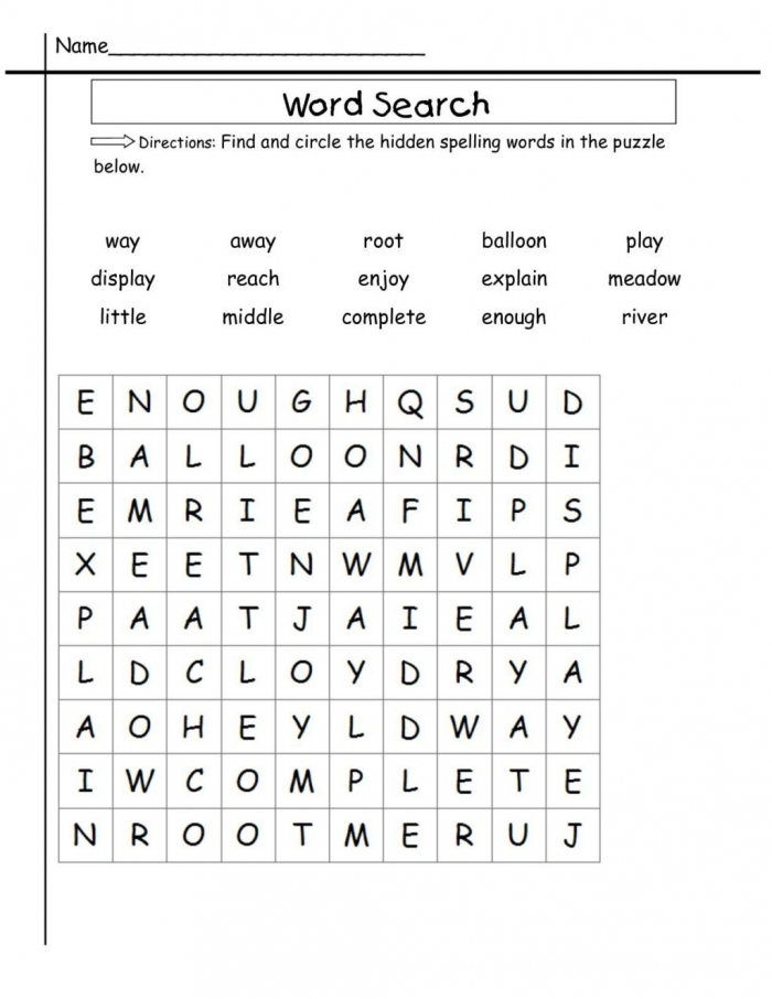 Worksheet  Worksheet Nd Grade Word Search Sight Worksheets