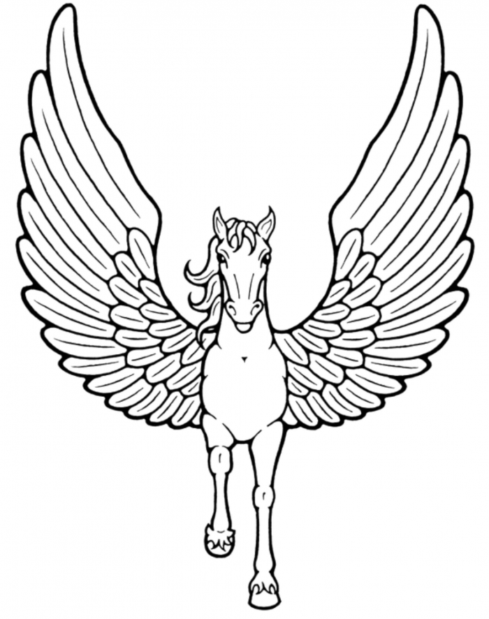 Worksheets  Free Printable Unicorn Coloring Clip Art Colouring