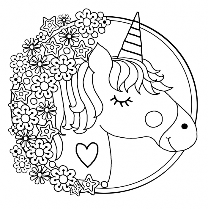 Worksheets  Unicorns Free To Color For Kids Coloring Children