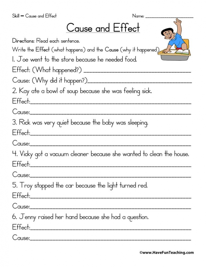 Write Cause And Effect Worksheet  Have Fun Teaching
