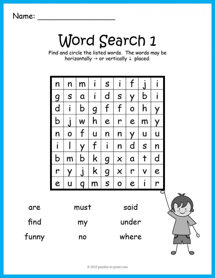A Bundle Of Ten Word Search Puzzles To Introduce  Different