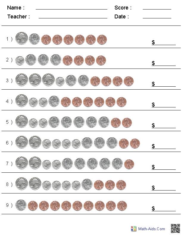 Coin Math Worksheets 99Worksheets