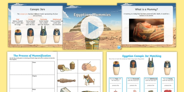 Ancient Egyptian Mummies Worksheets And Lesson Pack