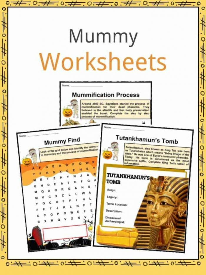 Ancient Mummy Facts  Worksheets   Historic Significance For Kids