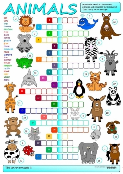 Animal Crossword Puzzle