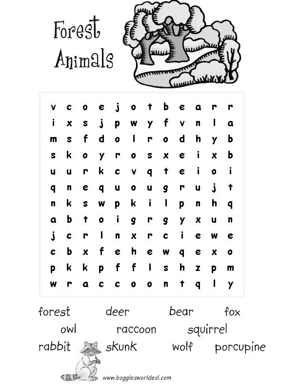 Animals Crossword Puzzle Worksheet Free Esl Printable Worksheets