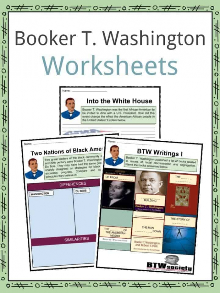 Booker T Washington Facts  Biography   Worksheets For Kids