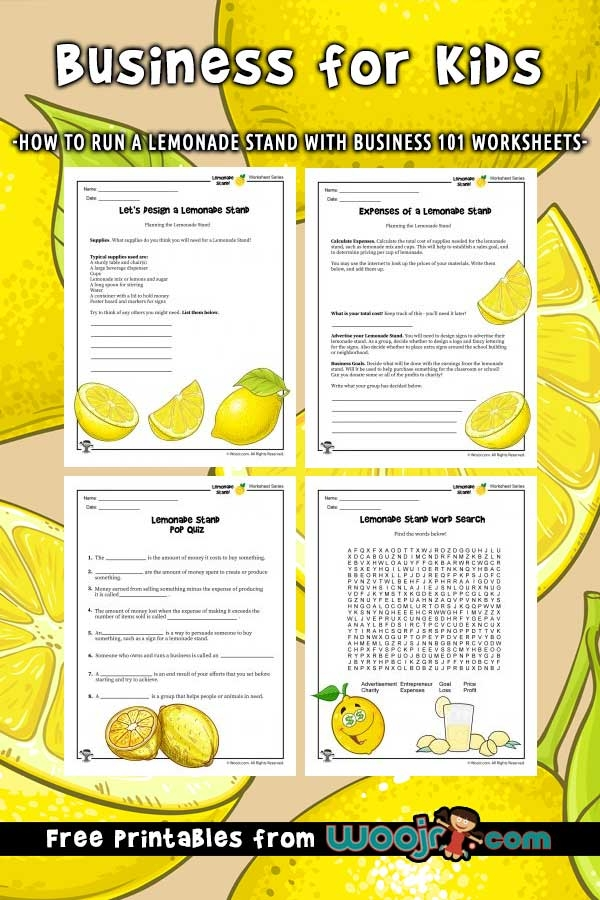 Business For Kids How To Run A Lemonade Stand