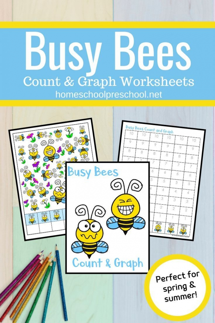 Busy Bees Count And Graph Worksheets In