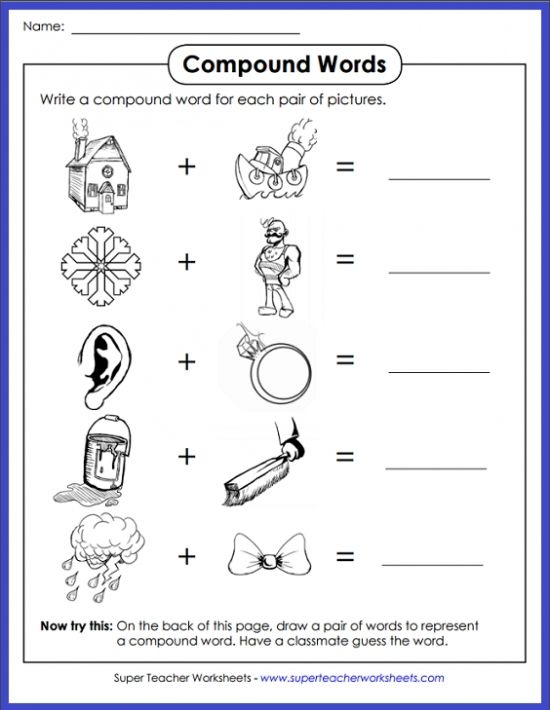 Can Your Students Figure Out Which Compound Word The Pictures Make