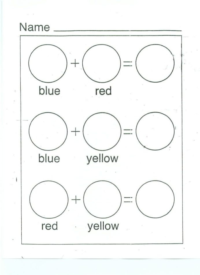 Color Mixing Printable Worksheet Google Search With Images Colors