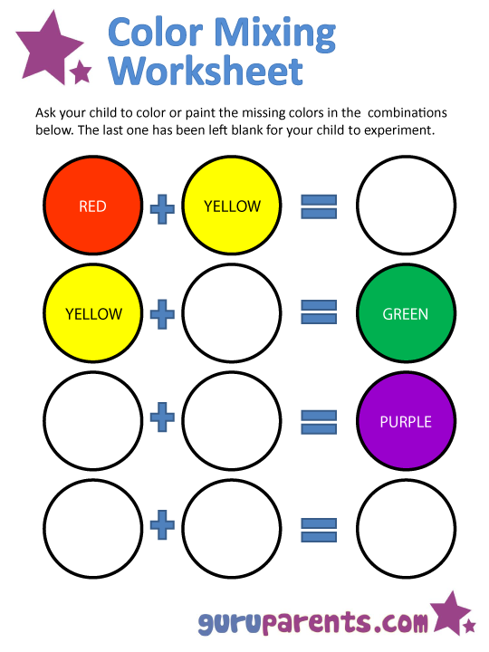 Coloring Pages  Color Mixing Worksheet Coloring Pages Staggering